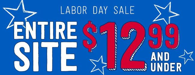 Labor Day Sale - Everything at Crazy 8 is just $12.99 & Under!