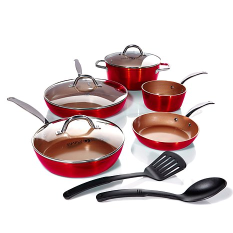 Simply Ming 10-piece Technolon+ Mega Cook Set in Vibrant Color