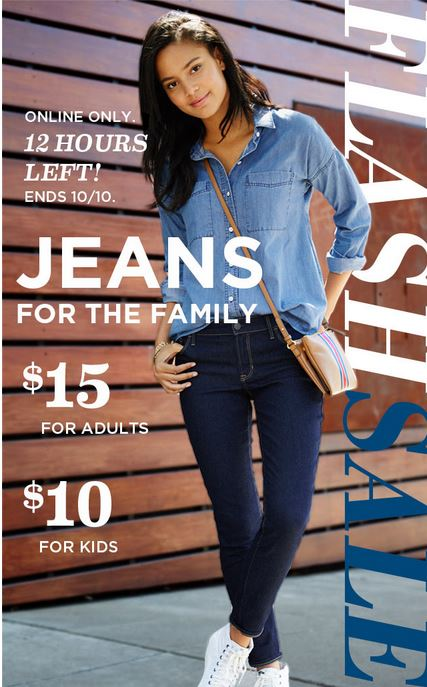 Old Navy Jeans on sale! $10 for Kids, $15 Adults