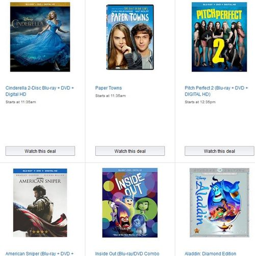 Amazon DVD lightning deals