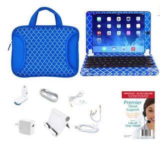 Apple iPadMini2 Retina 16 32GB, Keyboard, Case, Screen Protect & Lifetime Tech