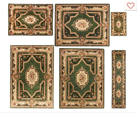 Royal palace french savonnerie wool rug