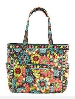 Vera Bradley Get Carried Away Tote Bag Travel Bag