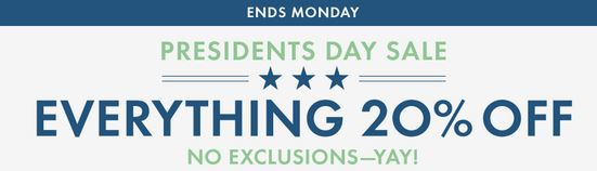 Hanna Andersson Presidents' Day Sale - 20% off Everything