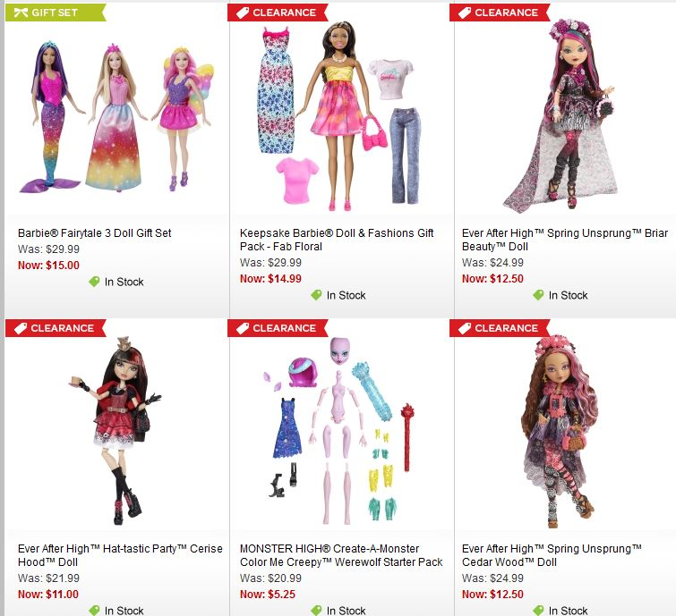 Mattel barbie monster high every after high