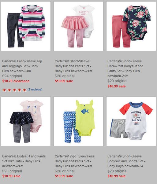 Carter's Baby Sets on sale + $10 off $25 Coupon