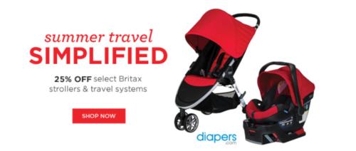 Britax sale at diapers