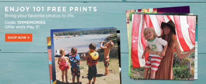 Shutterfly 101 free prints