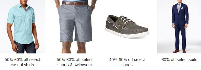 Macy's men sale