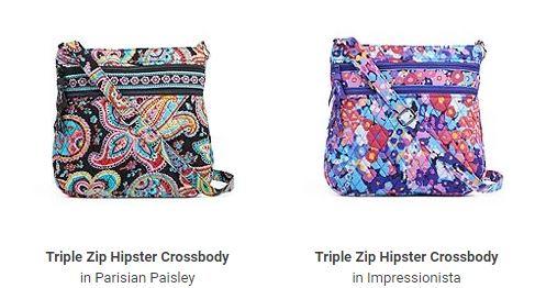 Vera Bradley Triple Zip Hipsters