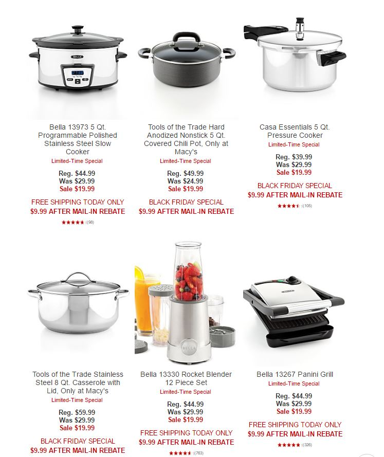Macy S Black Friday Kitchen Appliances