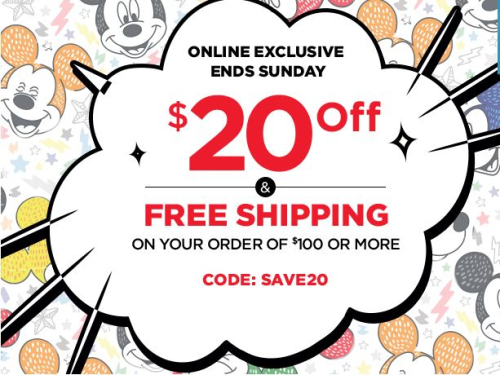 Disney store coupon free shipping
