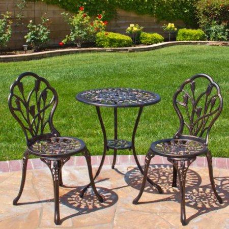 Best Choice Products Cast Aluminum Patio Bistro Furniture Set