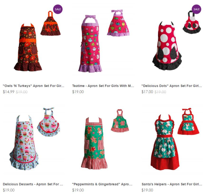 Dollie and me apron sets
