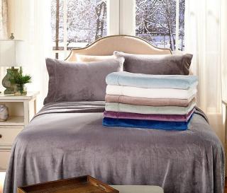 Berkshire blanket velvet soft cozy sheet set