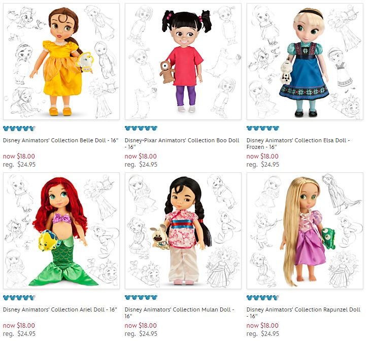 Disney Animator's collection dolls jingle deal