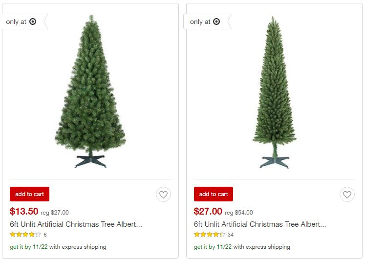 Target christmas trees on sale