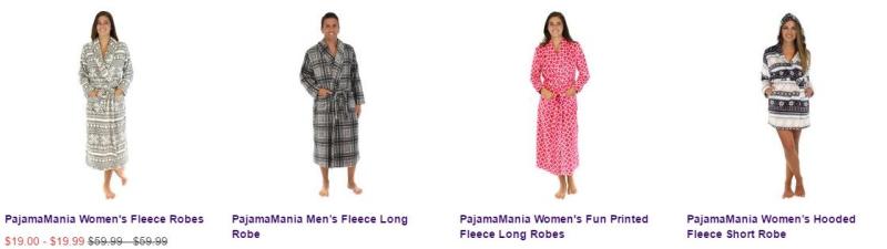 Pajamamania robes at sleepyheads