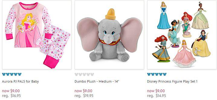 Disney store $9 deals