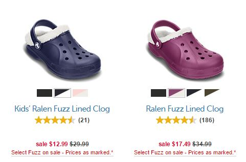 Crocs fuzz lined shoes on sale