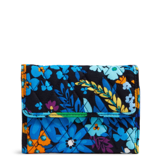 Vera bradley euro wallet blues