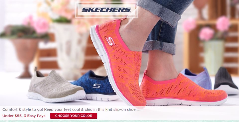 Skechers flat knit slip on