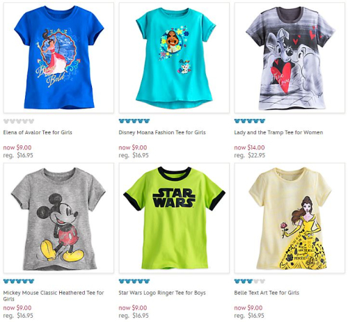 Disney store graphic tees
