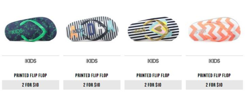 Cotton on flip flops for kids