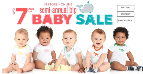 Carter's $7 baby sale free shipping