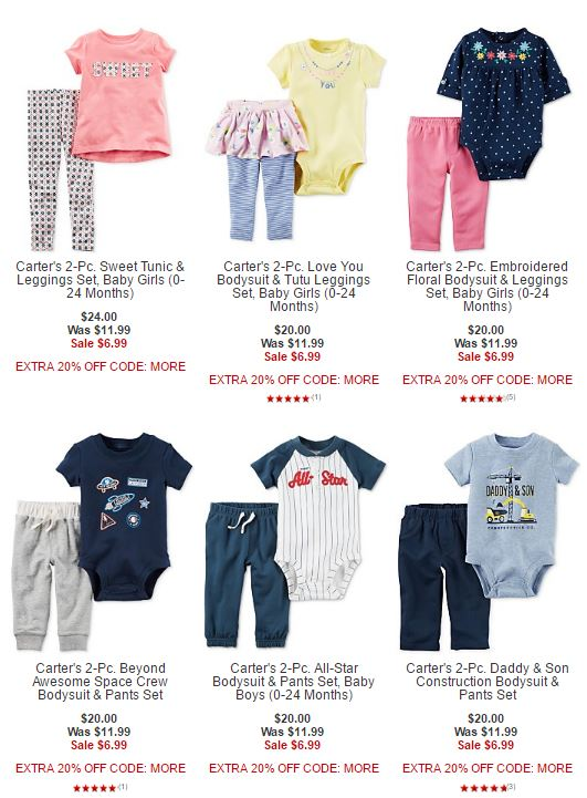 Macy's carter's sale 2 piece outfits