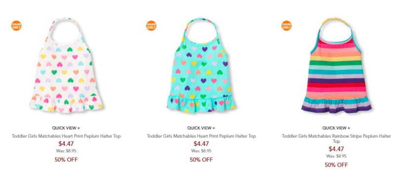 Children's place 50% off free shipping 2