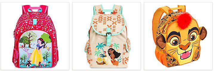 Disney store backpacks 2