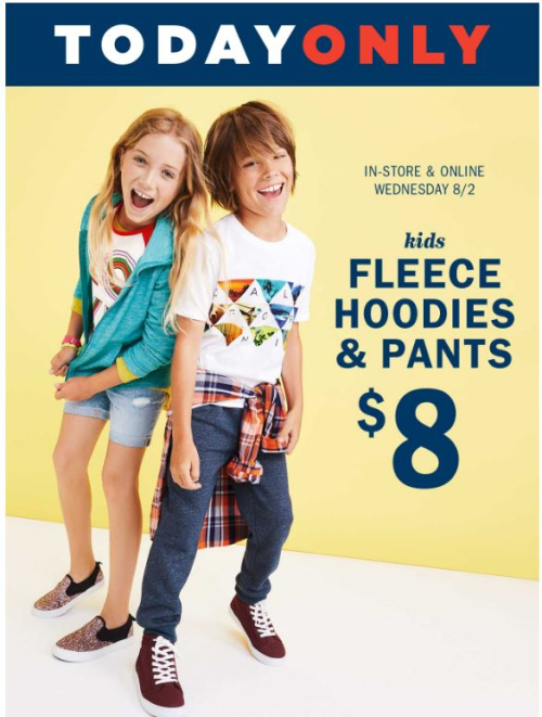Old navy kids hoodies and fleece