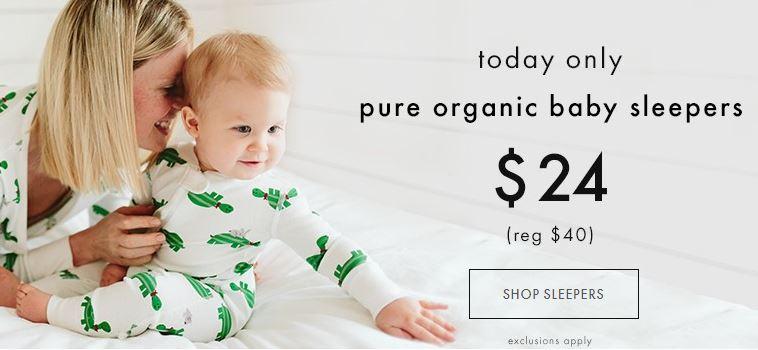 Hanna andersson organic baby sleepers on sale