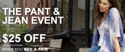 Lane bryant $25 off pants and jeans