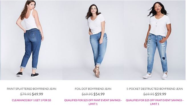 Lane bryant jeans sale