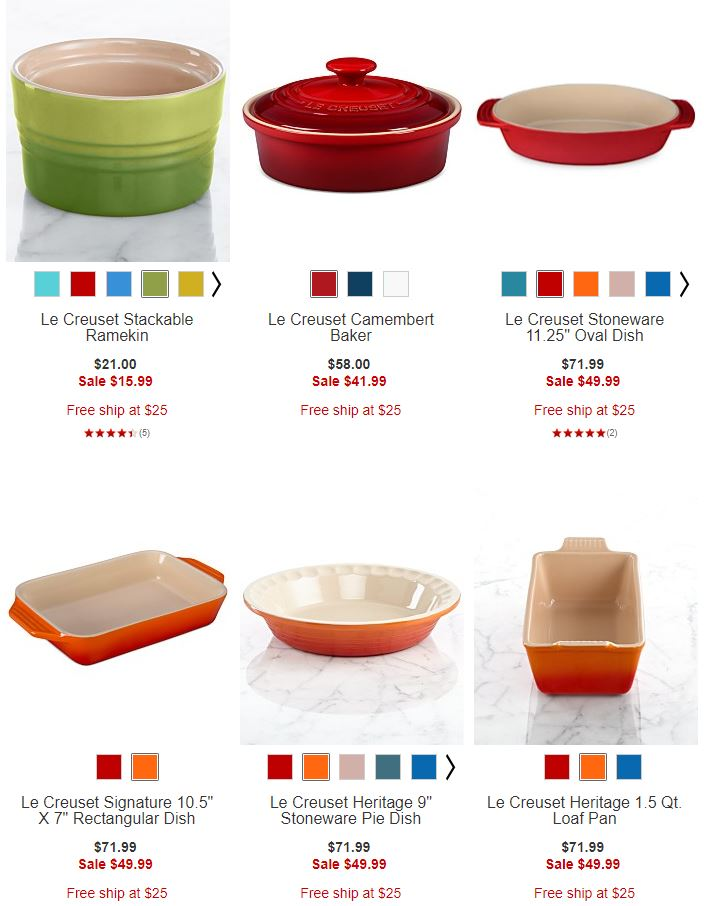 Le creuset under $50 at Macy's
