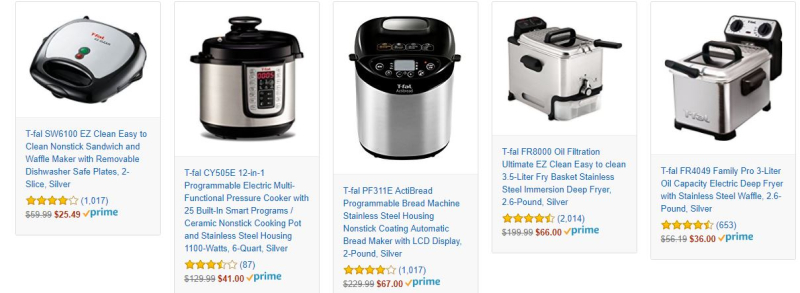 T-fal appliance sale at amazon