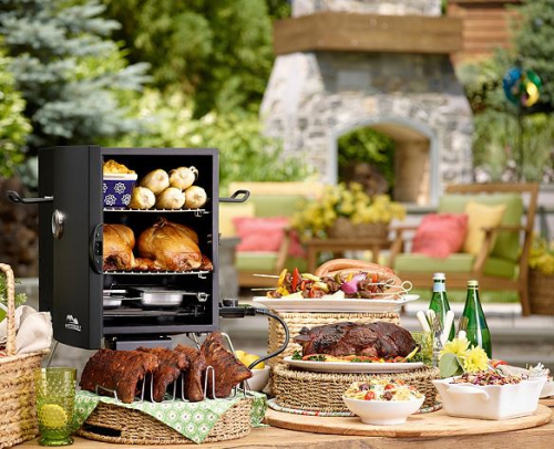 Qvc masterbuilt 2 rack patio portable electric smoker with rib rack