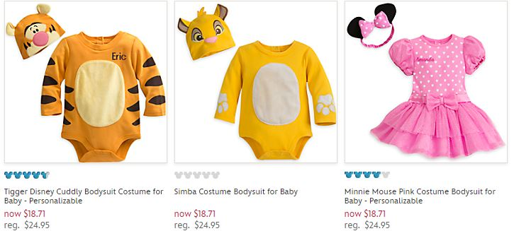 Disney store bodysuit costumes for baby