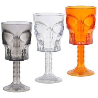 Translucent Skull-Embossed Plastic Goblets
