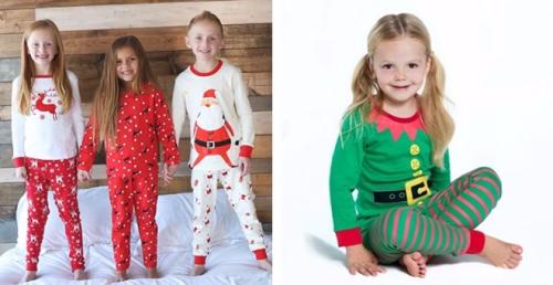 Boy and girl christmas pajamas