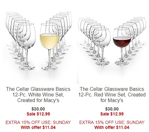Macy's wine glasses