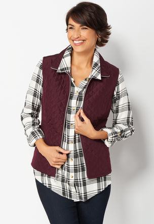 Christopher and banks quilted vest