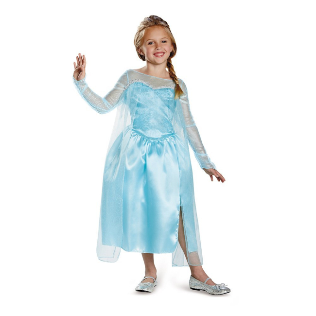 Disney Frozen Elsa Snow Queen Gown Classic Girls Costume $5.99