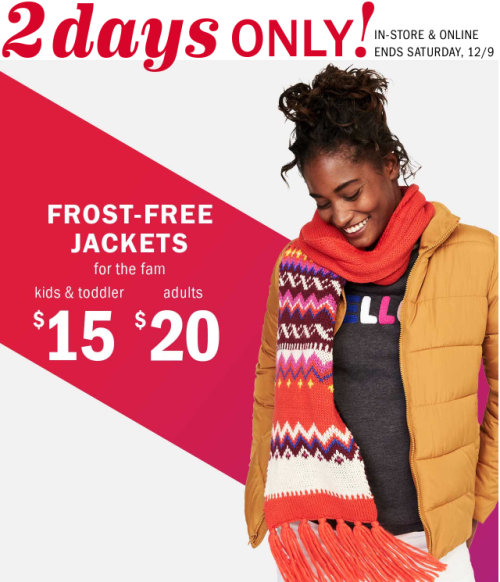 Old navy frost free jackets