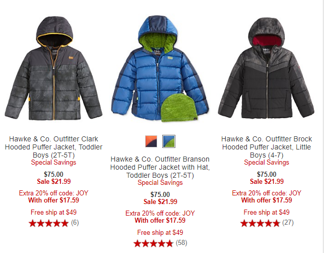 Hawke and co macy's puffer jackets