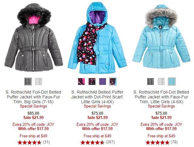 Girls puffer jackets at macy's