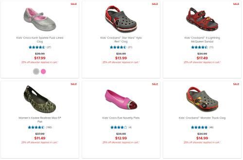 Crocs 25% off sale