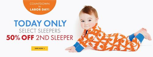 Hanna andersson baby sleepers labor day